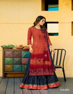 maroon rayon fabric printed work party