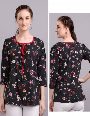 red polyester fabric printed work casual