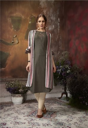 multi south cotton fabric embroidery work wedding wear