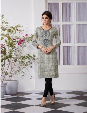 multi heavy rayon fabric print work casual wear