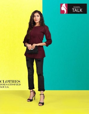 maroon cotton fabric printed work party