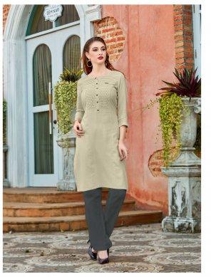 green rayon fabric schiffli work casual wear