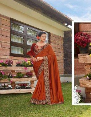 red vichitra silk fabric geogette work festive