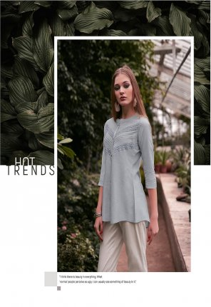 gray silk rayon fabric plain work casual wear
