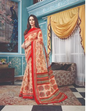 red kota fabric printed work party