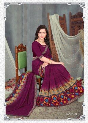 green vichitra silk fabric printed work casual