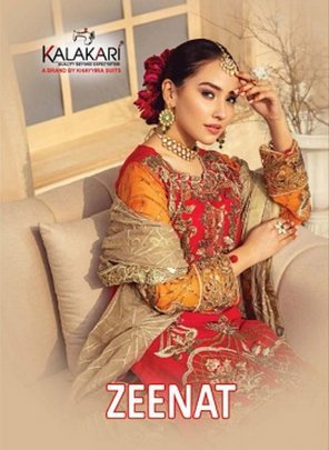 red georgette fabric embroidery work festive