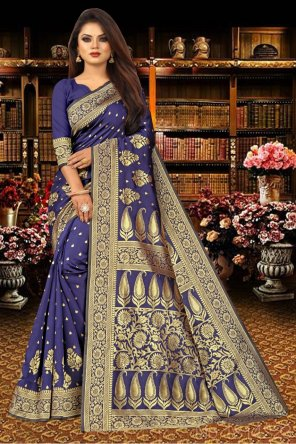 blue silk fabric jacquard work party
