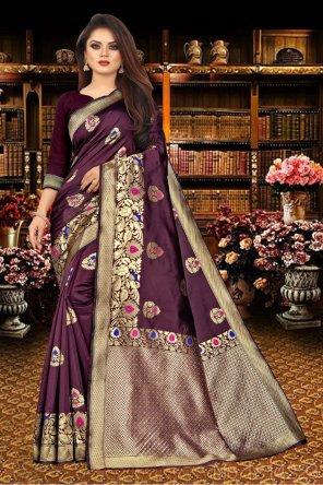 falsa silk fabric printed work casual