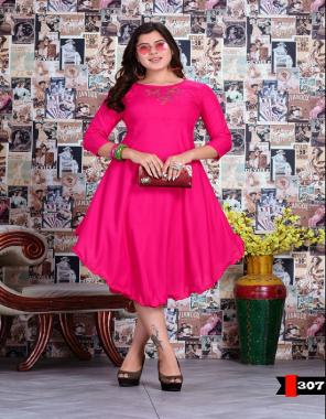 dark pink rayon fabric embroidery  work feastval