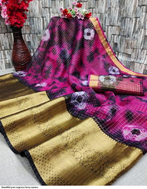 burgandi pure organza fabric sibouri work casual
