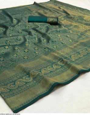 rama soft silk fabric golden weaving work ethnic