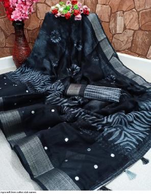 nevi blue soft linen cotton fabric linen cotton work festive