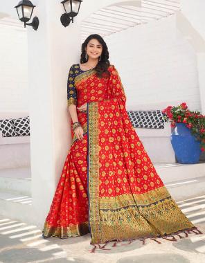 red nylon crepe silk fabric jacquard work wedding