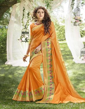 yellow khadi silk  fabric plian work party wear