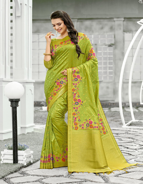 peorrot banarasi silk fabric printed work festive