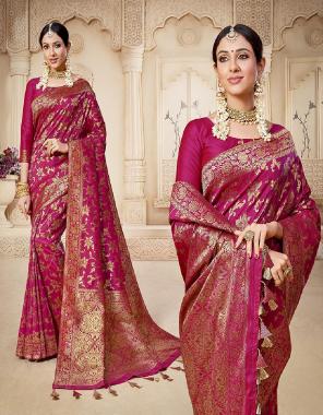 burgandi banarasi silk fabric fancy work festive
