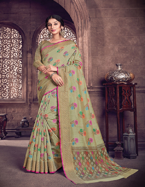 mehndi cotton handloom fabric jacquard work ethnic