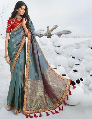 grey jacquard silk fabric jacquard work ethnic