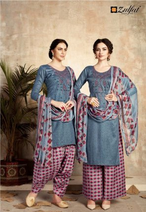 gray jam cotton fabric embroidery work casual wear