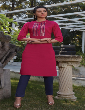 pink rayon fabric embroidery work ethnic