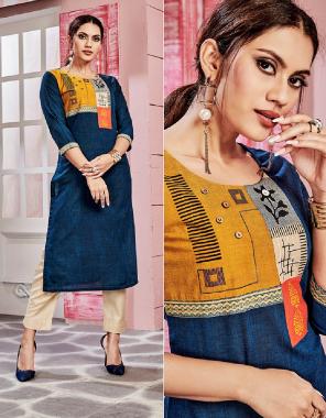 blue multi fabric fancy work ethnic