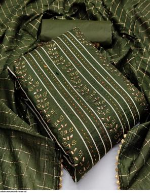 green cotton  fabric fancy work wedding