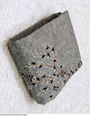 grey top bottom - cotton | dupatta - net fabric handwork work wedding