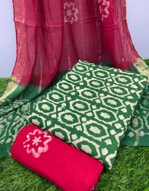 peorrot cotton  fabric bandhani printed work party  wear