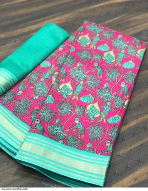 pink silk fabric printed work ethnic