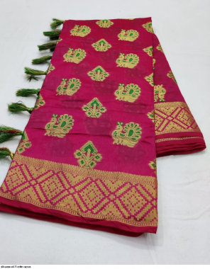 pink cotton  fabric jacquard work wedding