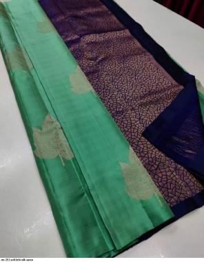 green soft lichi silk fabric jacquard  work running