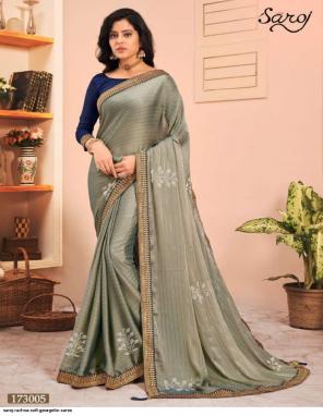 light mehndi soft georgette | banglori silk blouse fabric fancy work party wear