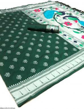 green lichi silk fabric weaving work ethnic