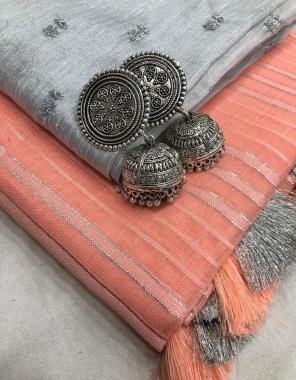 orange pure linen fabric plian work running