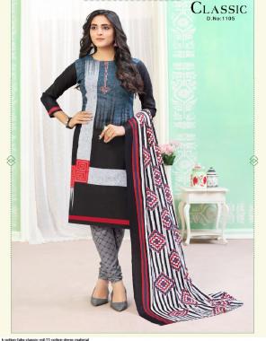 black top 2.35m + bottom2m + dupatta2.25m -cotton printed fabric cotton printed work ethnic