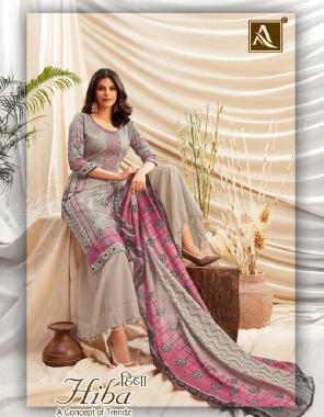 grey top - pure jam   bottom - cotton solid   dupatta - nazmeen chiffon fabric printed work festive