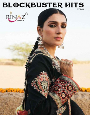 black top - fox georgette | bottom + inner -santoon | dupatta -nazmin fabric embroidery + fancy work ethnic
