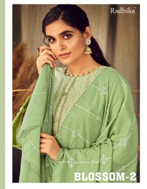 pista top - blossom cotton print   bottom - cotton   duppatta - cotton fabric embroidery foil  work casual