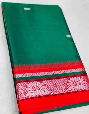 green saree - paithani silk | blouse - running fabric weaving  work wedding