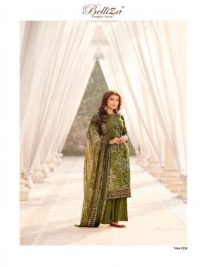 green top 2.50 - pure cotton | bottom 3m - pure cotton | dupatta 2.30 - nazmeen chiffon fabric digital print work festive