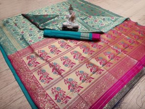 rama  banarasi silk fabric weaving work festival
