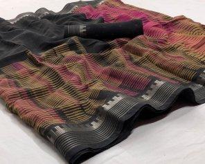 metal lenin fabric printed work casual
