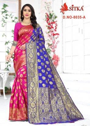 hot pink cotton silk fabric weaving work wedding