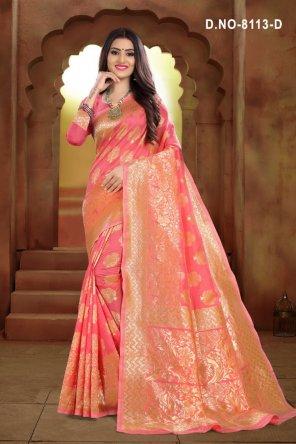 rose pink jacquard fabric weaving work festival
