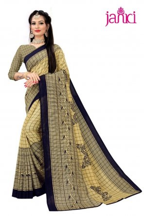 musterd vichitra silk fabric printed work casual