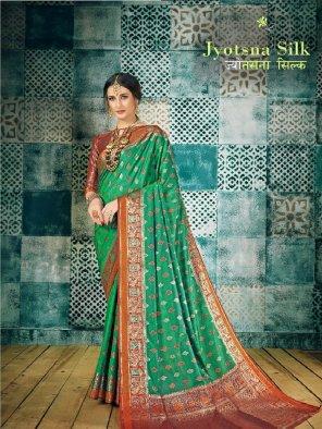 green silk fabric weaving work festival