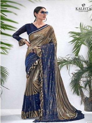 blue lycra silk fabric printed work party