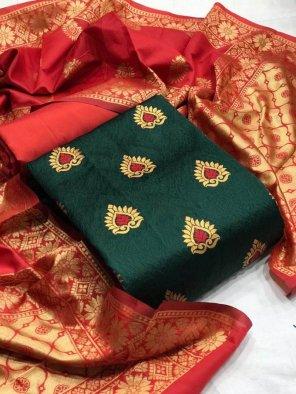 jerry green banarasi jacquard fabric weaving work festival