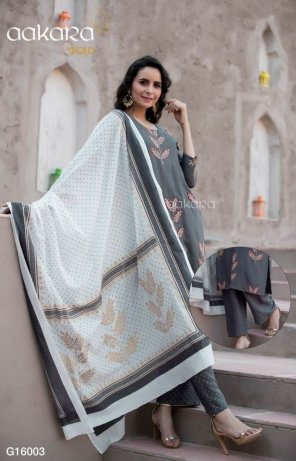 grey rayon fabric embroidery work reguler